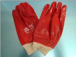 Red PVC Coated Gloves image